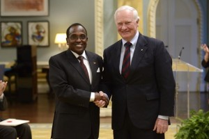 His Excellency John Lepi Lanyasunya with Governor General of Canada