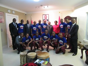 The Kenyan Boys Choir - Group with members of the KHC